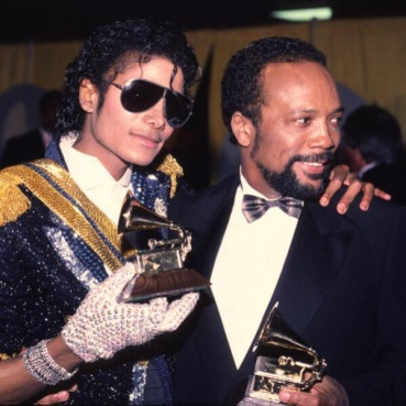 Michael Jackson & Quincy Jones at Grammy Awards 1984