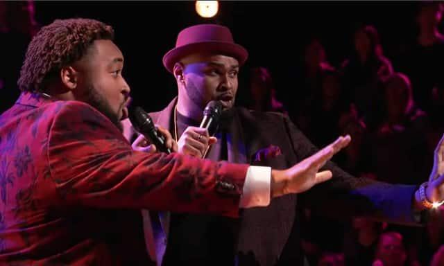 "Shawn Sounds & Matthew Johnson: Luther Vandross ""Never Too Much"" The Voice Battles2019"